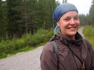 """Biologist, Ms. Kristiina Nyholm waited much more interest from the landowners' side towards inventorying. """"But it has turned out otherwise,"""" she says. Photo: Hannes Mäntyranta"""