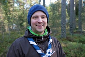 """""""Many forestry professionals have been scouts or guides,"""" says Jaakko Nippala, himself a Master of Agriculture and Forestry. Photo: Anna Kauppi"""