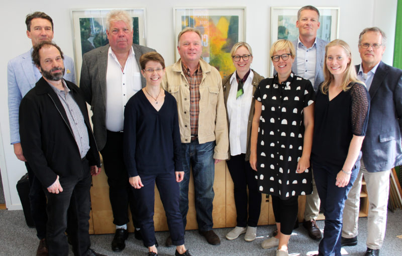 Some of the members of the working group for the Forest Academy for EU Decision Makers at a meeting in Helsinki, in August 2018. Top row from left: Anders Portin, Lars Högbom, Kai Lintunen, Terhi Koipijärvi, Teemu Seppä, Peter Blombäck. Front row: Mika Mustonen, Karoliina Niemi, Annamari Heikkinen, Elina Antila.
